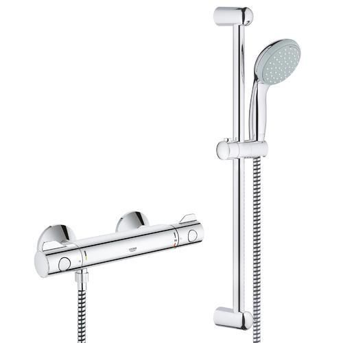 grohe grohtherm 800 mitigeur thermostatique avec barre et. Black Bedroom Furniture Sets. Home Design Ideas