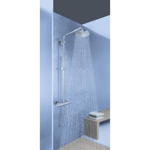 grohe rainshower system 210 colonne de douche avec mitigeur thermostatique de douche 27032001. Black Bedroom Furniture Sets. Home Design Ideas