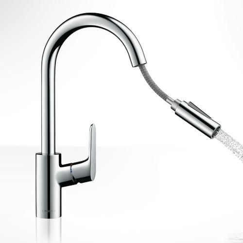 hansgrohe focus mitigeur cuisine chrom 2jets avec. Black Bedroom Furniture Sets. Home Design Ideas