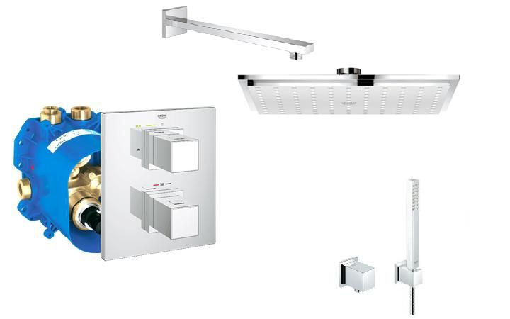 kit de douche grohe - Grohe Douche Encastrable