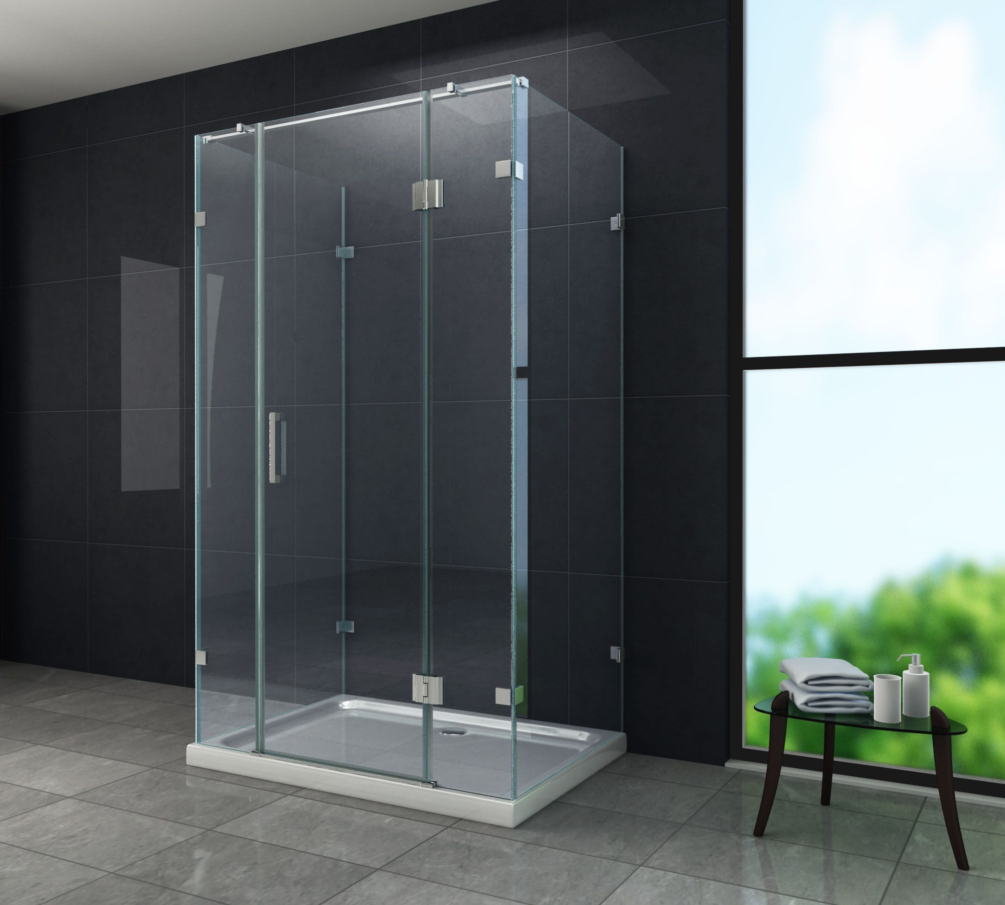 paroi de douche en u contor 1 porte 120 x 80 porte de douche 3 cotes. Black Bedroom Furniture Sets. Home Design Ideas
